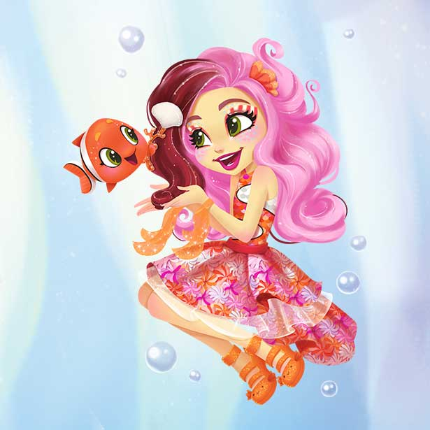 Clarita Clownfish and Cackle character image