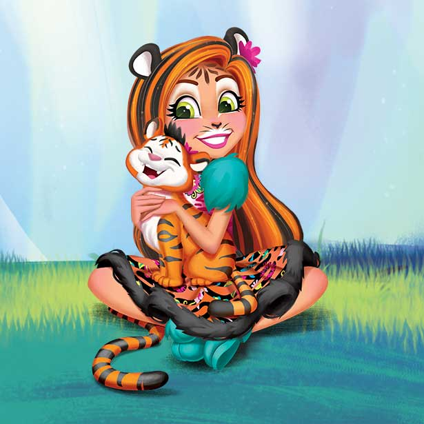 Tanzie Tiger™ y Tuft™ character image