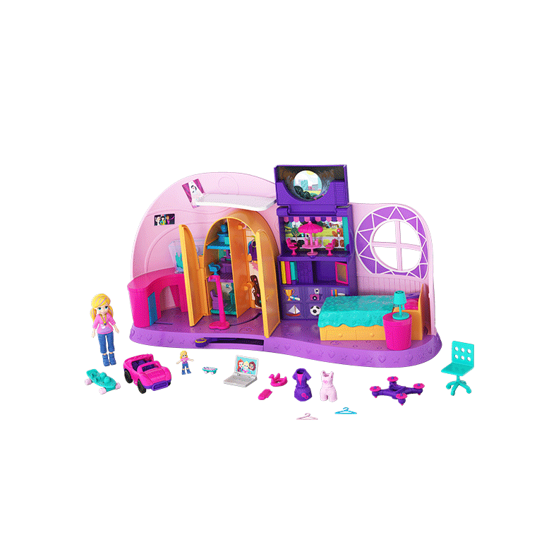 Polly Pocket™ Go Tiny!™ Room Playset with Dolls and Secret Surprises Product Image