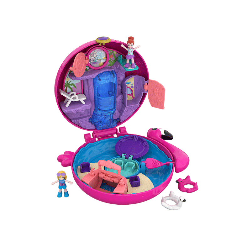 Polly Pocket Pocket World Flamingo Floatie Compact Product Image