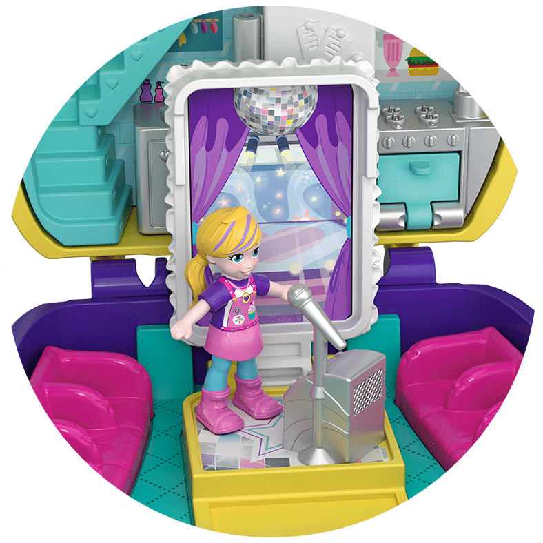 Polly Pocket Pocket World Cupcake Compact Close Up Product Image