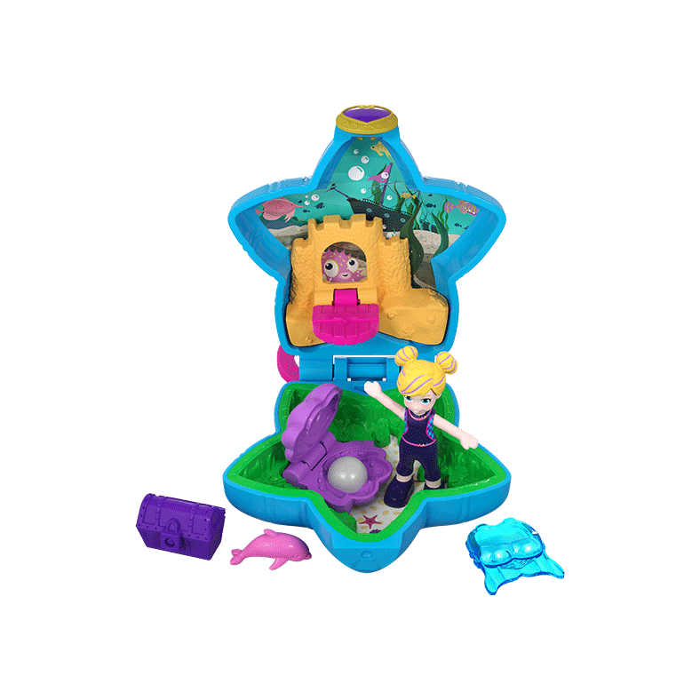 Polly Pocket Tiny Pocket Places Aquarium Compact Product Image