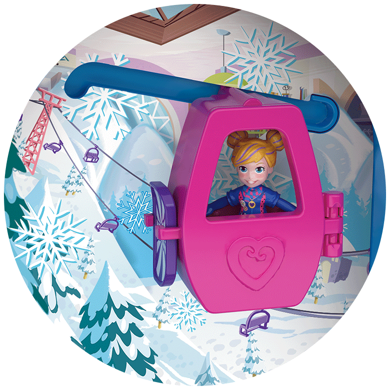 Polly Pocket Pocket World Snow Secret Compact Close Up Product Image