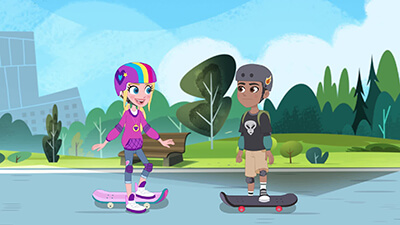 Electric Skateboard video image