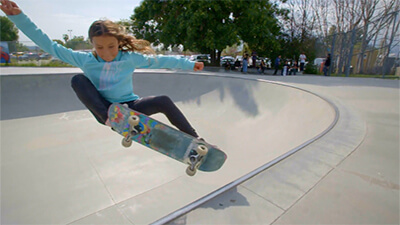 Sky Brown Teaches Polly Pocket Skateboarding Tricks video image