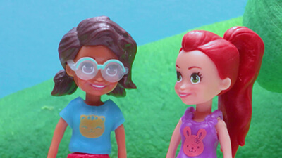 The Big Race - Polly Pocket goes skateboarding video image